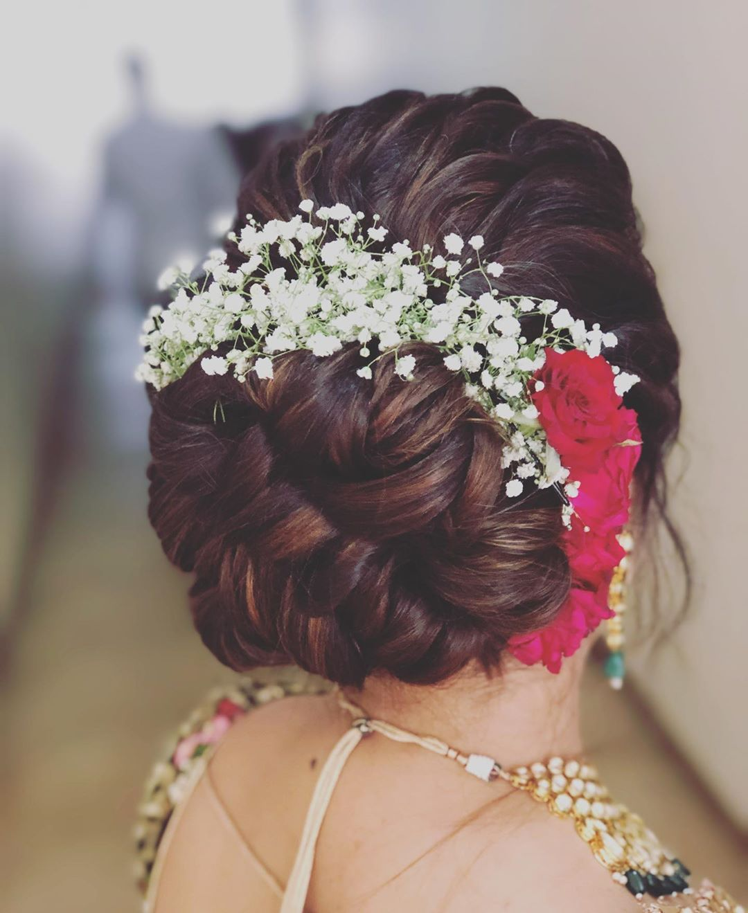 bridal hairstyle south indian style